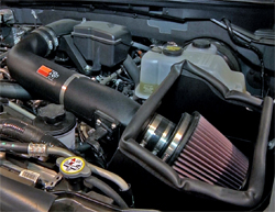 Baja Chase Support Ford F-150 is equipped with K&N air intake system, part number 63-2575