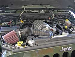 Burnsville Offroad Hemi conversion for Jeep Wrangler with K&N filter