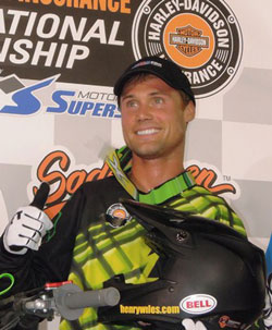 Henry Wiles recently walked away victorious from his heat, the Dash For Cash and the 25-lap feature in the Expert Class, at The AMA Grand National Series held at Springfield, Illinois
