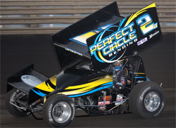 Johnny Herrera was crowned the 2009 Knoxville Raceway Champion in the Larry Woodward 2W after dominating the weekly 410 sprint car program