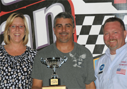 Johnny Herrera won his second track championship at Knoxville Raceway in Iowa after teaming up with Larry Woodward Racing