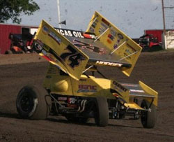 Josh Hodges earned his first 360 Sprint Car win of the year on a tough and tricky Aztec Speedway in Aztec, New Mexico.