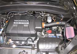 Honda Ridgeline with K&N air intake 57-3515 installed