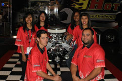 Third Place: Team Edelbrock, North Orange County ROP, Anaheim, CA.  Each member of Team Edelbrock receives $21,000 in scholarship money from supporting automotive schools.