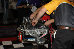 Students are in a race against the clock, as well as the other team, to correctly disassemble the engine. Then they must be reassembled to ready-to-run condition.