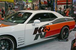 2009 K&N Dodge Challenger in K&N booth at SEMA in Las Vegas, Nevada