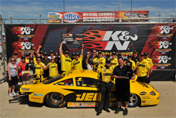 NHRA K&N Horsepower Challenge Winner's Circle nets Jeg Coughlin $50,000, a trophy and a ring