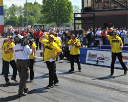 Jeg Coughlin's crew reacts to his first K&N Horsepower Challenge victory in nine years.