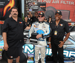 Steve Williams, Allen Johnson and Greg Boutte at Summit Racing Equipment Motorsports Park in Norwalk, Ohio