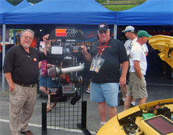 Bob Proulx and Larry Holmes with K&N display on the 2009 Hot Rod Power Tour