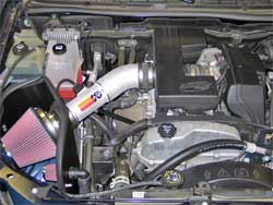 Air Intake Installed in Chevy Colorado