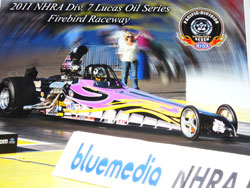 In the opening race for Hunt Motorsports, Michael made it through two rounds in Super/Comp and three rounds in Super/Gas, losing only to the eventual winner.