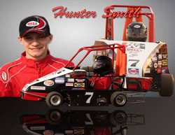 Hunter Smith and his K&N sponsored kart.