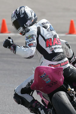 K&N's Huntley Nash won his third AMA Pro SuperSport race of the year at Barber Motorsports Park and dedicated the victory to his mom.