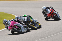 Nash and Pascarella put on a thrilling show for the fans, dicing back-and-forth for most of the race.