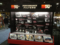 K&N's participation in the International Motorcycle Shows include an event called The Factory where people can ask questions and learn more about the products.
