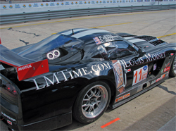 Joel Feinberg's Dodge Viper has a V10 engine and was developed for the ALMS GT2 Class