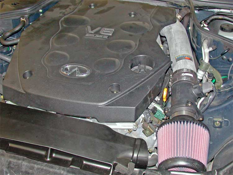 2003 to 2006 infiniti g35 owners can add 5 1 hp with k n s rh knfilters com 2006 Infiniti G35 Transmission Infiniti G35x Exhaust System Diagram