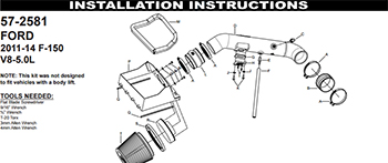 To make the question of How to Install a K&N Air Intake less worrisome, K&N air intakes systems include step by step printed installation instructions with photos of each step