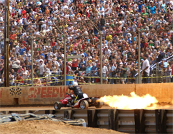 Kamikaze jet powered 4-wheeler ignites the crowd at monster truck show in Hagerstown, Maryland