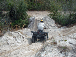 The school's ATV three mile Safari course has 70 obstacles and are designed for Military Special Forces groups