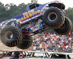 Iron Warrior driven by Trey Myers is also equipped with K&N products on the Monster Jam Circuit