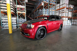 For Jacob Cruz, everything on the Grand Cherokee has a meaning. The red symbolizes two things; the blood which was shed in combat and his unit's color.