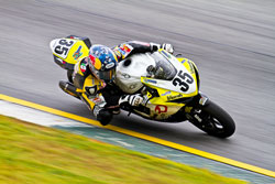 Jake Lewis recently experienced his first win in the AMA Pro Racing Series, while competing in the Big Kahuna in Atlanta.