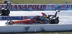 Janice Swan made it to the Super Comp final for the NHRA Div 3 Fall Classic National Open at Lucas Oil Raceway.