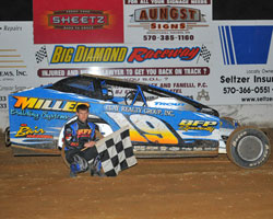 Jared Umbenhauer wins at Big Diamond Raceway