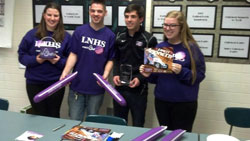 Jarett visited Lawrence North High School to aid with their March of Dimes fundraising.