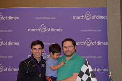 Having had the experience of twin cousins that were born prematurely Jarett feels it's an honor to represent the March of Dimes.