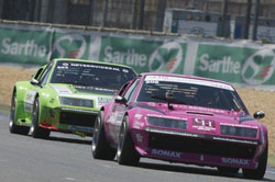 The pink K&N sponsored Alpine continues to outrun the likes of Porsche, Ferrari, BMW, Lotus and any other comers in its age bracket.