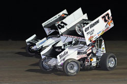 Jason Johnson scored his second 2012 ASCS National Tour win at Devil's Bowl Speedway driving his Roush Yates Ford powered car. Photo by Timothy Passmore.