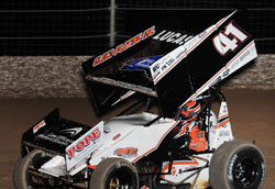 JJR's 15th place finish was more than enough to clinch the title at the inaugural Sprint Car Super National contested at Las Vegas Motor Speedway.