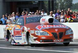 NHRA Pro Stock driver Jason Line's Summit Racing Pontiac GXP