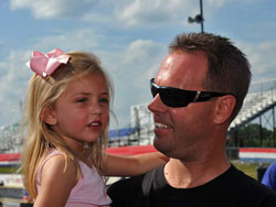 Jason Line and his daughter enjoying the warm southern sun in Hotlanta.