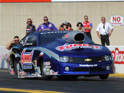 Jason Line currently drives a relitively new 2012 Camaro in the NHRA Prostock Class