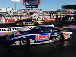 Jason Line is normally a top contender In NHRA Pro Stock