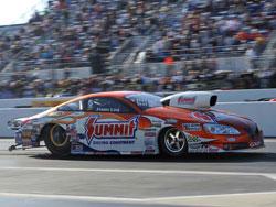 Jason Line with the Summit Racing NHRA Pro Stock Pontiac GXP