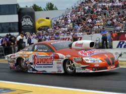 Jason Line with his Summit Racing Pontiac