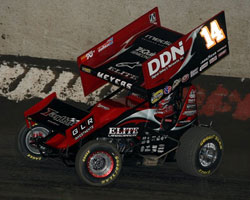 Meyers drove his K&N sponsored car to 12 total victories in 2010, with the highlights being the Gold Cup, the Iron Man, and culminating with his first World of Outlaws Championship.