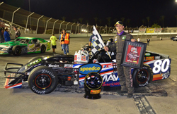 Returning after a four-year break from racing, Jason Patison confirmed he was back, by dominating the LoanMart Hot August 75 race at Irwindale Speedway