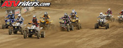 David Haagsma pulled the hole-shot in the WORCS Pro ATV Class. Photos by ATVRiders.com