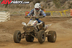 Beau Baron took the first WORCS Pro win of the season aboard his K&N backed Spark Racing powered Honda TRX450R ATV. Photos by ATVRiders.com