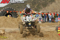 Haagsma aboard his K&N backed Maxxis/H&M Motorsports Honda TRX450R ATV battled hard to earn his first ever pro podium finish. Photos by ATVRiders.com