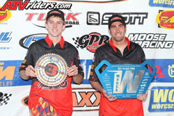 H&M Motorsport's Beau Baron took first place, joining him in third place was teammate David Haagsma. Photos by ATVRiders.com