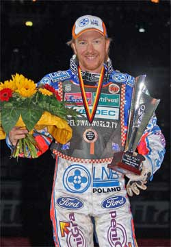 Jason Crump wins bronze medal at Germany, photo by Mike Patrick