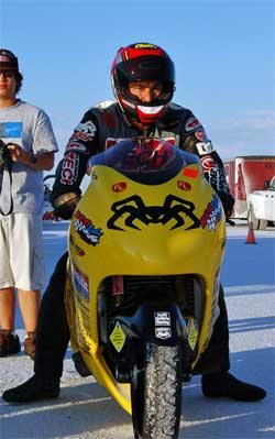 World's Fastest Open Motorcycle - Two turbo Suzuki Hayabusa with racer Jason McVicar