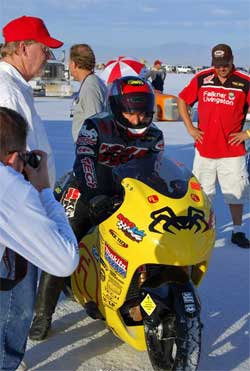 Suzuki Hayabusa and Jason McVicar will be back in action at Speed Week 2009